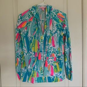 EUC Lilly Pulitzer Zip front hoodie